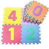 EVA Platten Futurepast 10 Stück Kinder Puzzle Teppich Platten Puzzlematten Puzzle Teppich Bunt Kinder EVA-Schaum Spielmatte Krabbelmatte Bodenschutzmatte 30x30 cm