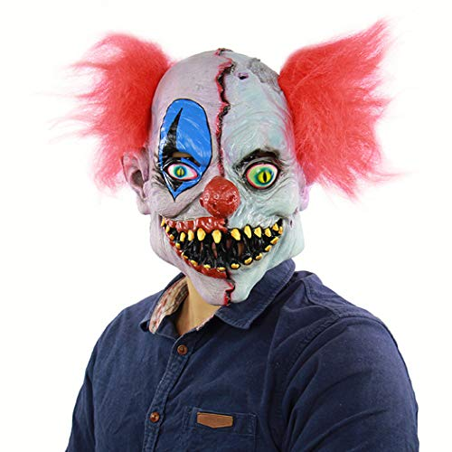 Latex Masken Kostüm Erwachsene Scary Clown, Männer Frauen Halloween Requisiten