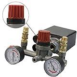 Calli Régulateur compresseur d'air de commande de commutateur de pression de la pompe + jauges de soupape