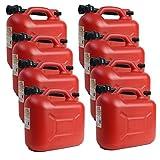 8er Set: 8x Benzinkanister KKR 10 PE 10 Liter rot mit UN Zulassung