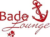 GRAZDesign 650139_50_031 Wandtattoo Bade-Lounge Anker | Badezimmer-Tattoo an die Wand/Fliesen/Spiegel (67x50cm//031 rot)
