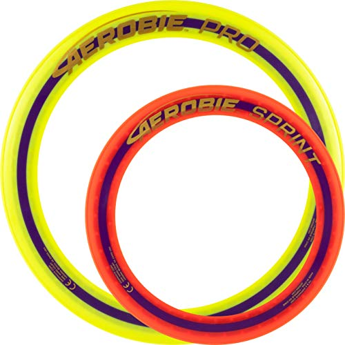 Aerobie Pro Wurfring Sprint Frisbee Ring Wurfspiel Set Pro Sprint Ring (Gelb / Orange)