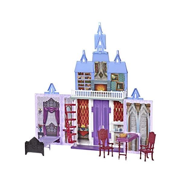 Disney Frozen 2 - Castello di Arendelle Pieghevole, Casa Delle Bambole Ispirata al Film Disney Frozen 2, Gioco Portatile… 3 spesavip