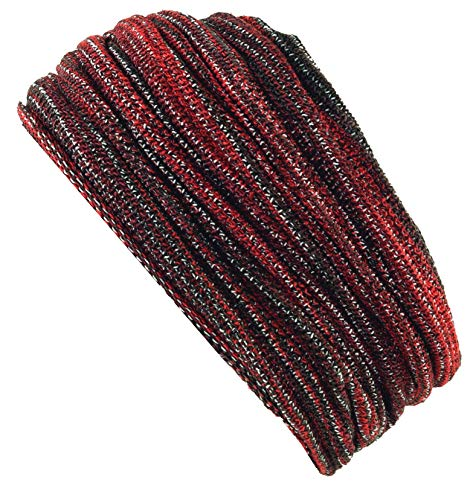Guru-Shop Magic Hairband, Dread Wrap, Schlauchschal, Stirnband, Mütze - Rot, Herren/Damen, Synthetisch, Size:One Size, Stirnbänder Alternative Bekleidung
