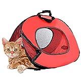 V.JUST Multifunktions-Pet Carrier, Leichte Katze Carrier Travel Out Tasche Faltbare Handtasche Für Katze Und Hund
