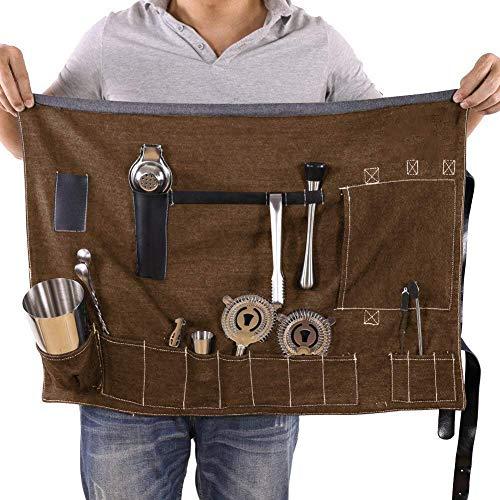 Denim Shoulder Tote (Bartender Rolltasche, tragbar, groß, Tasche für Zuhause und Arbeitsplatz, Cocktailherstellung, Denim-Tasche für Reisen 27