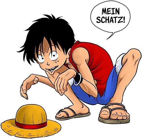 Parodie auf Ruffy von One Piece - Mein Schactz - Manga Herren T-shirt (710) Schwarz