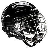 Bauer LIL - Casco de hockey con rejilla de protección facial para adulto negro...