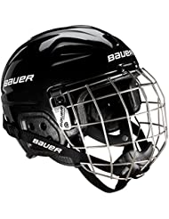 Bauer LIL - Casco de hockey con rejilla de protección facial para adulto negro negro Talla:talla única