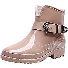 características sobresalientes precio atractivo grandes ofertas en moda Amazon.es: Botas Lluvia - Rosa