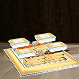 House Of Sensation Fun & Functional Serving Tray Dinners And Parties Unit Of 4 Air-Tight Bowls With Lids & One Tray