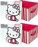 Una scatola Hello Kitty grande per la cameretta o camera da letto. Ideale per conservare tutti i tipi di oggetti-CD, DVD, matite, libri, giocattoli, vestiti, etc. Design robusto materiale esterno, con manici e coperchio. Dimensioni: 34x 29...