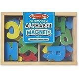 Melissa & Doug 448 Magnetic Wooden Alphabet,Multi Color
