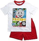 Thomas die kleine Lokomotive Kollektion 2018 Schlafanzug 86 92 98 104 110 116 Pyjama Kurz Shortie Shorty Thomas und Seine Freunde (Weiß-Rot, 98-104)