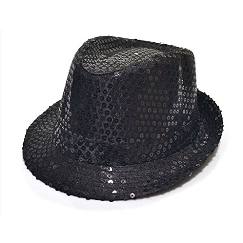 tfxwerws Fashion Show Dancing Kids Paillette Panama Hat (schwarz)