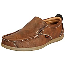 Bata Mens Tan Loafers 851-4790-40