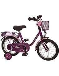 """Kinderfahrrad 14"""" Zoll (=35,6cm) MY DREAM lila-pink Stützräder + Seitenständer"""