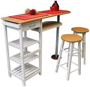 Küchenbar mit 2 Stühlen Frühstückstheke Küchentisch