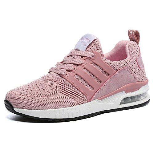 Herren Damen Sportschuhe Laufschuhe Bequem Atmungsaktives Turnschuhe Sneakers Gym Fitness Leichte Schuhe (Rosa,Größe 39) (Frauen Schuhe Adidas)