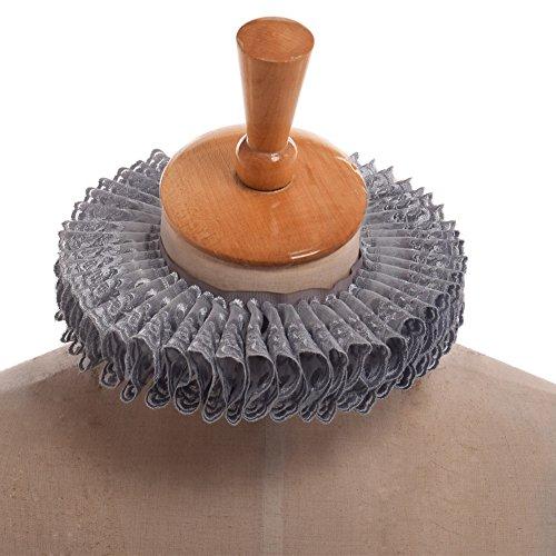 GRACEART Viktorianisch Rüsche Halsband Schal (Grau) (Viktorianischen Ära Kostüme Für Kinder)