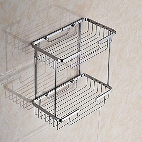 GYMNLJY Home double basketweave square stainless steel racks