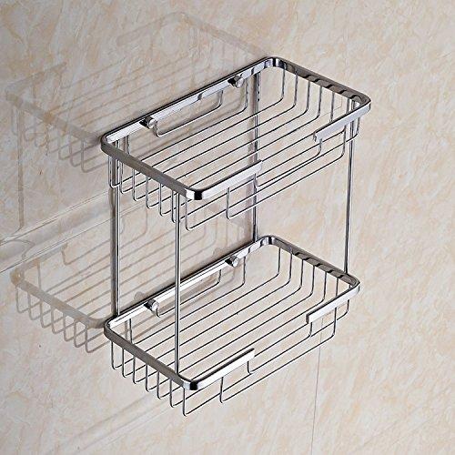 GYMNLJY Casa doppia basketweave quadrato in acciaio inox scaffali