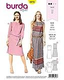 Burda 6413 Schnittmuster Kleid (Damen, Gr. 34-46) Level 2 leicht