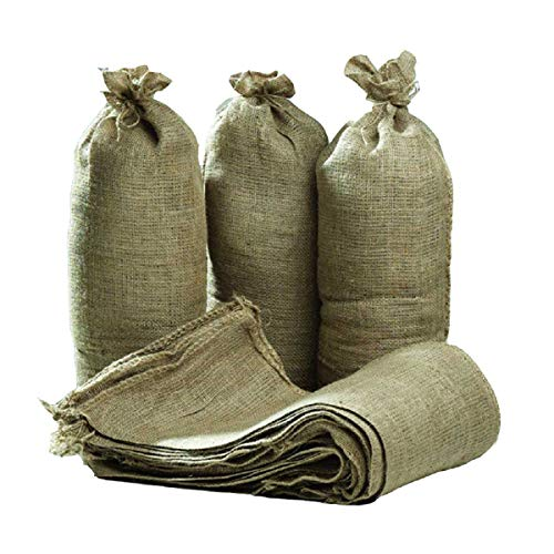 Hessian Sand Bags with Ring Ties 750x325mm (Qty Discounts) Flood Protection Sack (10)