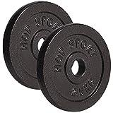 Hop-Sport Hantelscheiben 5kg 10kg 20kg 30kg 40kg Guss Gewichte Hantel Set Gewichtsscheiben 30mm (2 x 2,5 kg)