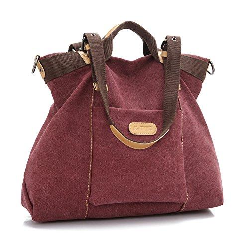 Womens handtaschen,einzel-schulter /messenger bag,canvas-tasche-Lila (Stud Shopper)