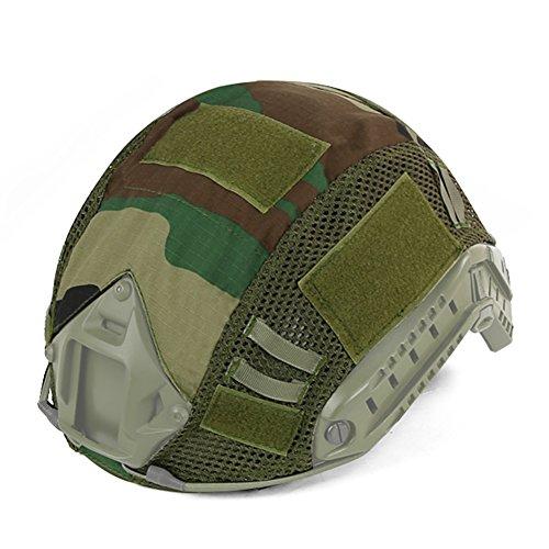 Hunting Explorer Tactique Rapide MH PJ Casque Camouflage Couverture Militaire Casque Accessoires pour CS Wargame Armée Airsoft Plusieurs Couleurs