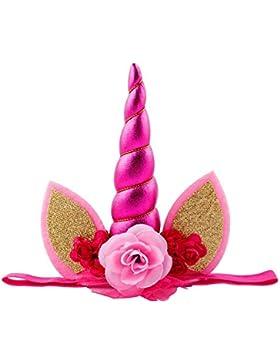 Rainbow Fox Unicornio Vendas Chicas Banda para el cabello Princesa Rosa Flor Sombreros Navidad Fiesta Tocado