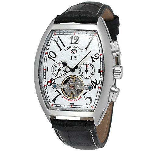 Forsining Men\'s Steampunk Automatic Tourbillon Calendar Wrist Watch FSG9409M3S4