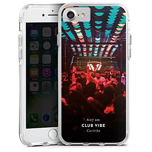 Apple iPhone 6s Bumper Hülle Bumper Case Glitzer Hülle Party House Techno Bumper Case transparent
