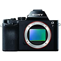 Sony ILCE7B Full Frame Compact System Camera Body (24.3 MP, 117 Points Hybrid AutoFocus, 3.0-inch Tiltable LCD, 5 fps, XGA OLED Tru-Finder) - Black