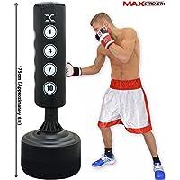 Saco de boxeo de pie, resistente, 175 cm, para boxeo, artes marciales mixtas, kickboxing, de MAXSTRENGTH