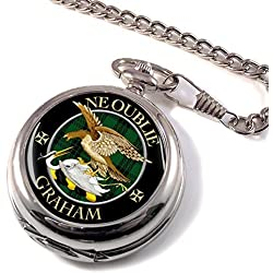 Graham Scottish Clan Crest Pocket Watch