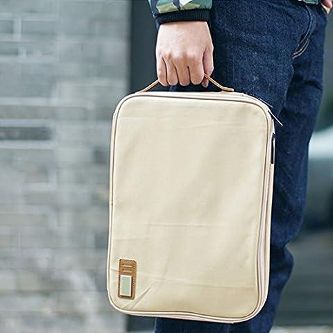 Wasserdicht Laptoptasche, Life&Tech 13.3 zoll 14 zoll MacBook Air/Pro Schutzhülle,Laptop Notebook Case Sleeve Hülle Cover. (13-13.3 Zoll, Beige)