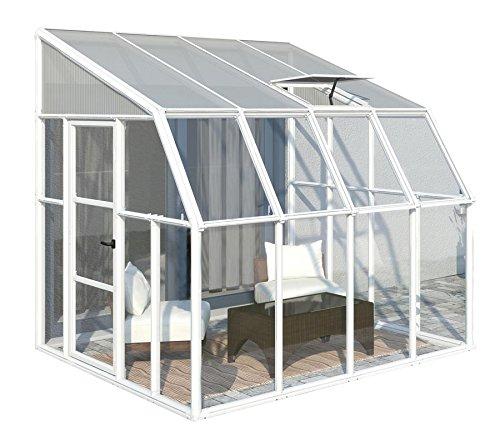 """RION Kunststoff Anlehngewächshaus / Wintergarten """"Sun Room 44"""" (260 x 258 x 266cm (TxBxH) + Dachfenster"""