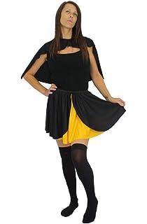 """Ladies Red Robin 15/"""" Skater Skirt Super hero Fancy Dress Accessory"""