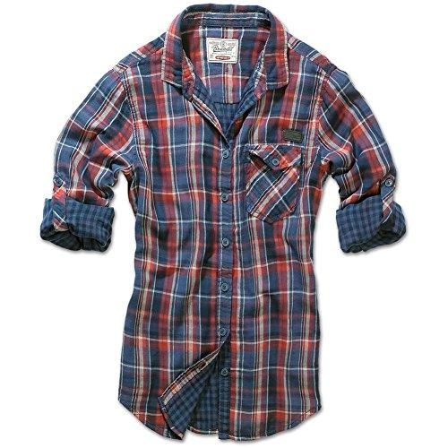 Armeeverkauf Brandit Kathy Damen Karo Bluse Shirt Hemd Doubleface red Größe S