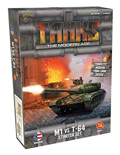 Gale force Nine LLC Panzer: The Modern Age Starter Set-M1 vs T-64, Mehrfarbig, GFNMTANKS01