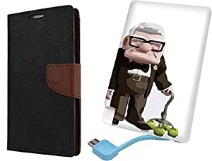 APE Wallet Cover and Printed Power Bank for Samsung Galaxy A5 2016