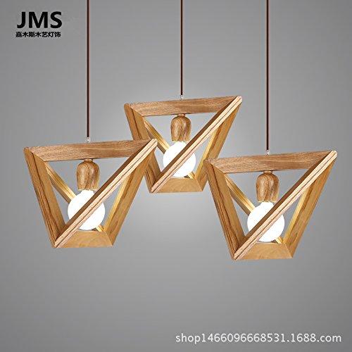 BGmdjcf Unica Testa Di Legno Geometria Triangolo ,E27 Lampadario Lampada Testa (1,5 M Altezza Luce (Oro Rotonda A Cupola A Soffitto)
