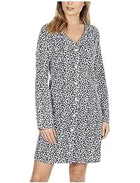 Metzuyan Ladies Leopard Print 100% Cotton Flannel Nightshirt 417a7f2e4