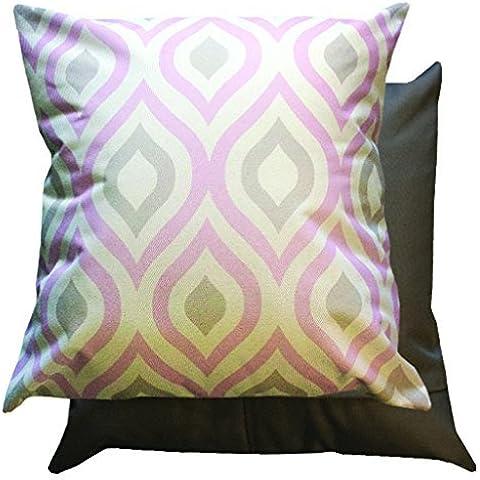 Rosa & grigio motivo geometrico cuscino imbottito con esterno impermeabile per canna/mobili da giardino