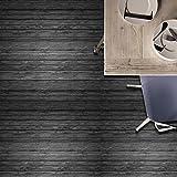 JY ART Z Fliesenaufkleber Dekorative Wandgestaltung mit Fliesenaufklebern für Küche und Bad, Deko-Fliesenfolie für Küche u. Schwarze Holzmaserung CZ045, 20*20cm