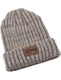 Fuxitoggo Sombrero de Lana Mezclado Sombrero de Gorro de Lana de Invierno  cálido Sombrero de Punto (Color… bb9d89d012f