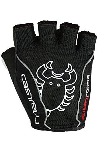 Castelli Rojo Corsa Classic guantes, Rosso Corsa Classic, negro, Small