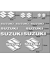 PEGATINAS MOTO RGSX SUZUKI R170 STICKERS AUFKLEBER DECALS AUTOCOLLANTS ADESIVI (BLANCO)